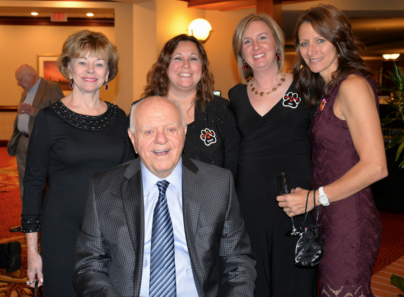 Pat and Vince Foglia with Young at Heart staff Dawn Kemper  Jen Porter  and Sandy Bacino.