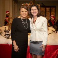 Ariel Investments' special assistant to the president Dorian Carter and WINGS' CEO Rebecca Darr
