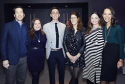 Nigel Caine, Jennifer Stuart, Steppenwolf trustee Jonathan Blanc, Eleonore Moncheur, Katherine Nardin and Aimee Graham