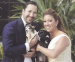 Collin Pierson and Michelle Durpetti Pierson and two of their fur babies
