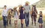 "Kerry and Sarah Wood and family go ""western"" for their super cool holiday card"
