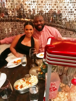 Seen on the scene Jatnna Toribio with her boyfriend Israel Idonije