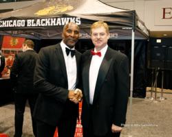 Former Bear Otis Wilson with Arthur Samokhina