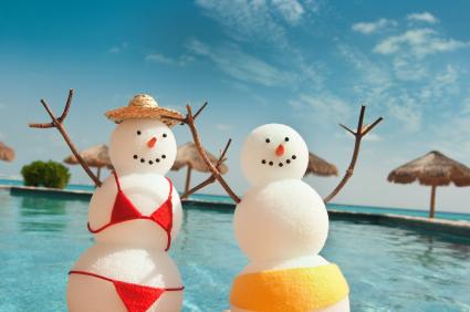 Snowman-in-sun