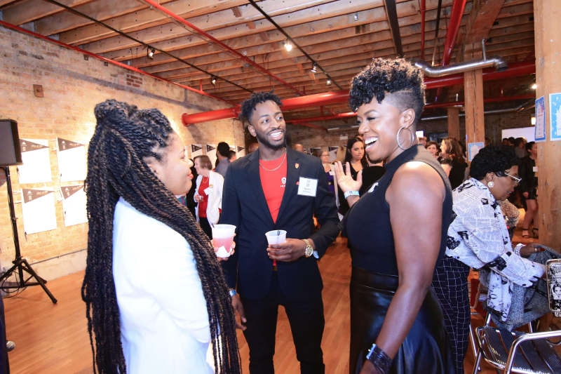 Candid Shot with VIP Guest  Kevin Stonewall and Dominique Joradn Turner