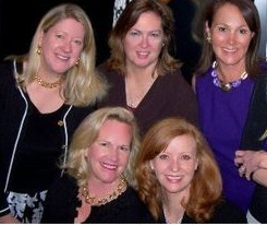 Blog 1 - Top Allison Schmitt, Betsy Ahearne, Gigi Johnson, Ann Kasten Front Katherine Veach, co-chair Liz Sharp