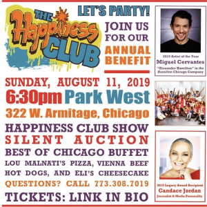 The Happiness Club honors on Sunday  Aug. 11