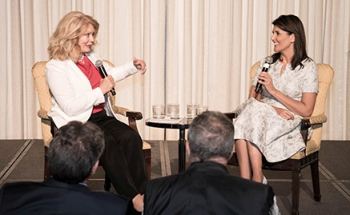 Mary Hart interviews Nikki Haley.