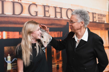 Preckwinkle with opossum