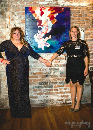 Artist Ashley D'Amico (L) and Inspiration Hilary Rikower (R)