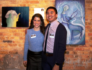 Inspiration Rachel Reichblum (L) and Artist Jeffrey Guerrero (R)