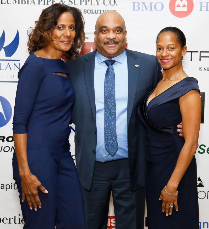Robin Robinson  Superintendent Eddy Johnson  and his wife  Nakia Fenner Johnson