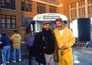 Andrew Davis and Harrison Ford on The Fugitive set