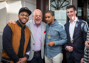 Kwame Onwuachi  Andrew Zimmern  JJ Johnson and chef Chris Coombs