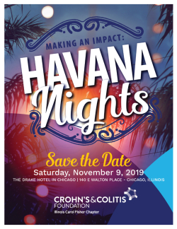Havana Nights--Crohn's disease gala 2019