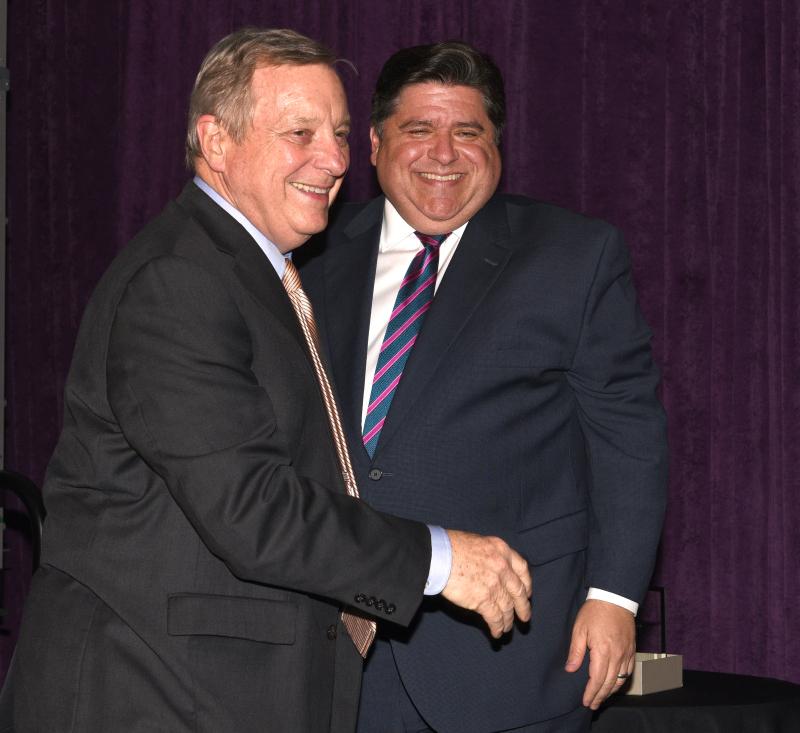 Family focus--stephen f.  majsak U.S. Senator Dick Durbin and Governor JB Pritzker