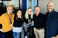 Ji Suk Yi  Lauren Lein  Dave Eanet and Justin Kaufmann --Steve Cochran Show--Vivianne Linou--producer--10-7-19