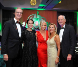 (FOP) Board President Mike Borders  Gala Committee Chair Elect Shannon Flavin  Gala Committee Chairs Erica Goldman and Donna Socol are pictured w honoree Dr. Michael Socol