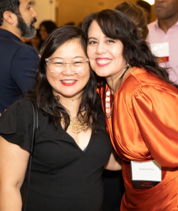 2018 3Arts Awardee Christine Pascual  2019 3Arts Awardee Stephanie Diaz at 2019 awards_Photo by Robin Subar