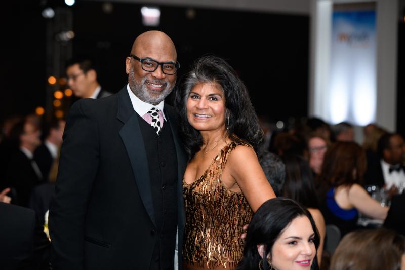 ABC 7 Community Relations Director Diana Palomar and James Gilliam (both Metropolitan Board Members)