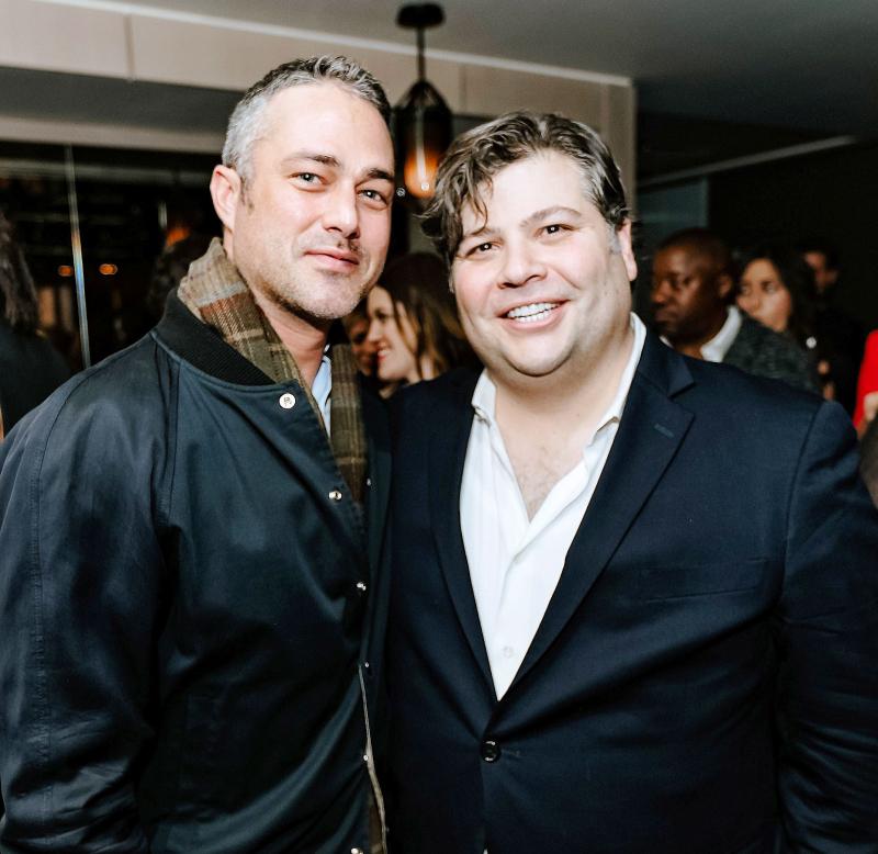 Taylor Kinney and R.J. Melman  President of Lettuce Entertain You Enterprises