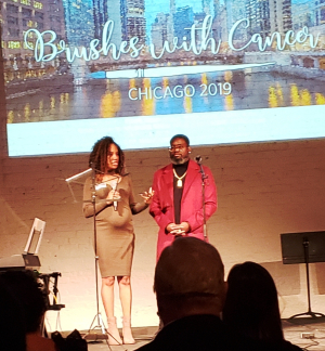 Artist Dana Phipps (L) and Inspiration Lil Rel Howery(R)