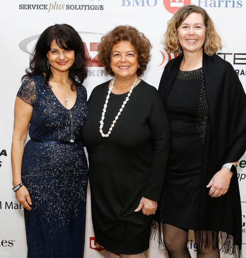 #3--Member Arica Hilton  Executive Director  Mary Ann Rose  and Chairman and CEO of the Magnificent Mile Kimberly Bares