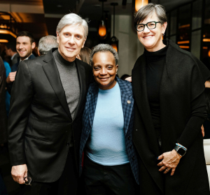 Rich Melman  Mayor Lori Lightfoot and First Lady Amy Eshleman