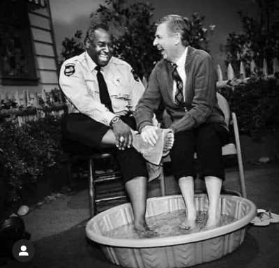 Mr. Rogers and Officer Clemmons