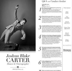 CMFA honoree Joshua Blake Carter