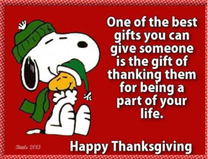 Thanksgiving saying
