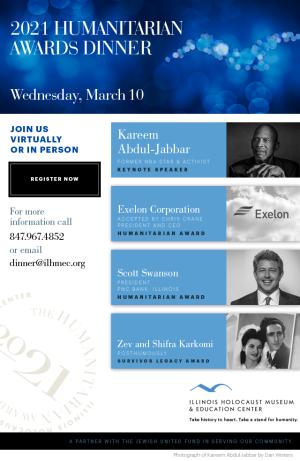 Holocaust museum awards dinner--March 10
