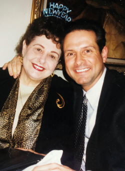 Mark and his mom  Enzula Roscoe