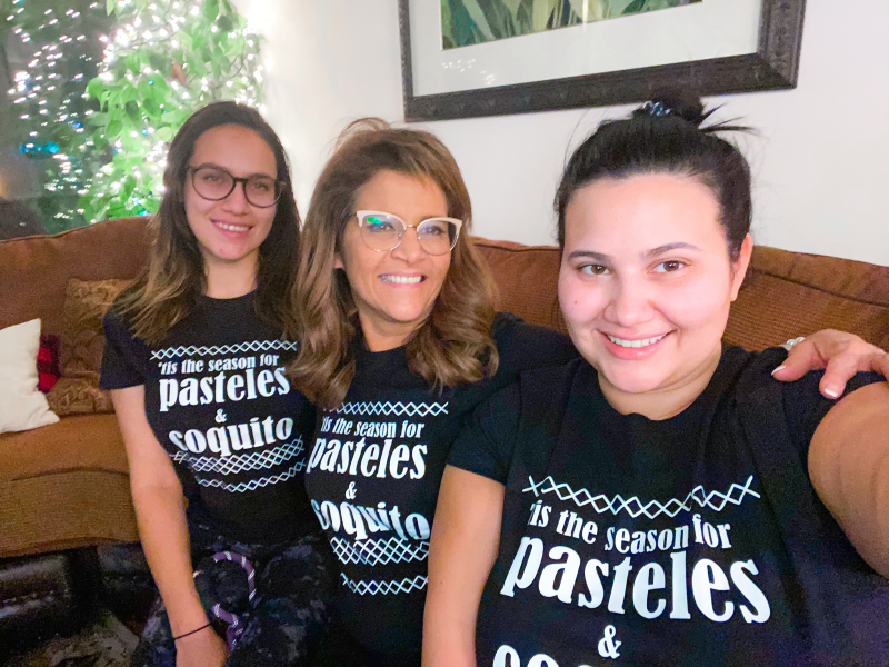 We are Puerto Rican and I love these shirts. We eat Pasteles and drink coquito (Puerto Rican egg nog) it's a holiday tradition.