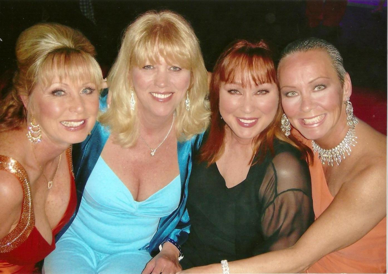 With fellow PMs--all former Hef girlfriends but me--including Patti Connors
