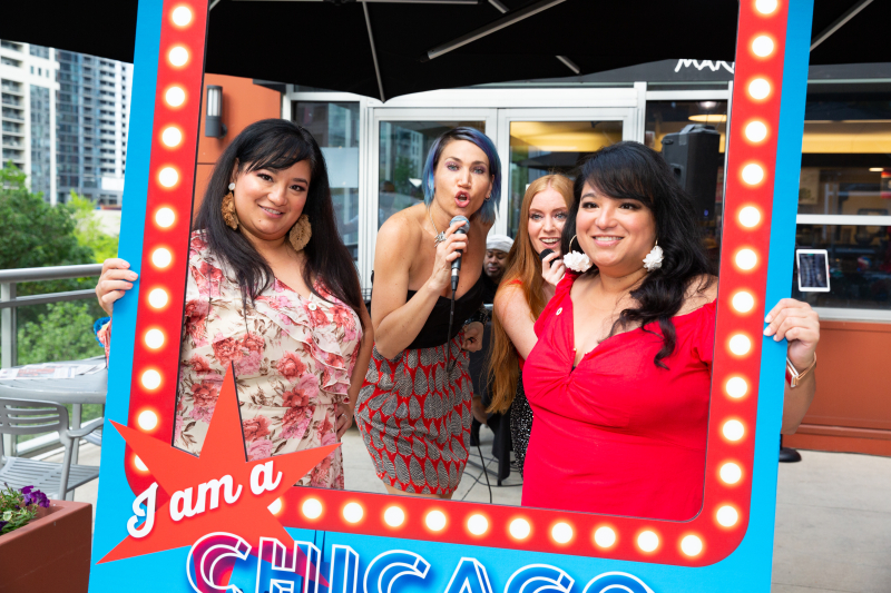 Giovanna Krozel and Almira Yllana with Doorstep Divas  Molly Callinan and Caitlin Simone.