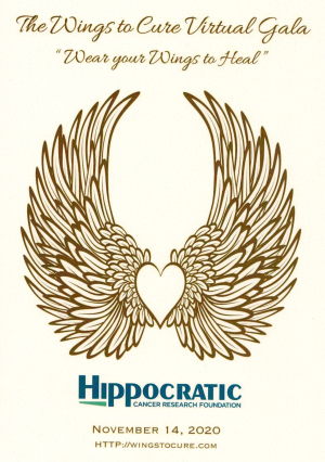 Hippocratic Gala  Wings to Cure  Nov. 14  virtual  6 pm.