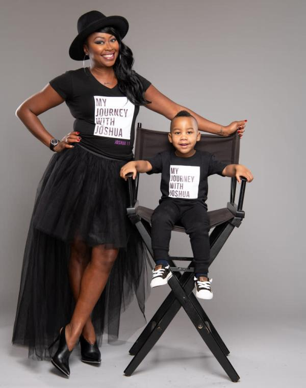 Deborah Farmer   author of Journey to Joshua with her adopted son.