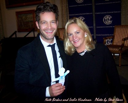 Two of my fav peeps - Nate Berkus and Leslie Hindman - at a Union League event