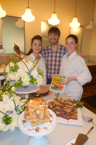 Table 52 pastry chefs Geovanna Salas and Celeste Campise with Cake Boy Eric