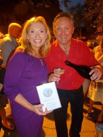 Winners Andrea Schwartz and Dr. Steve Stryker